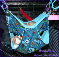 Bunk-Bed Hammock Hanging with Rats